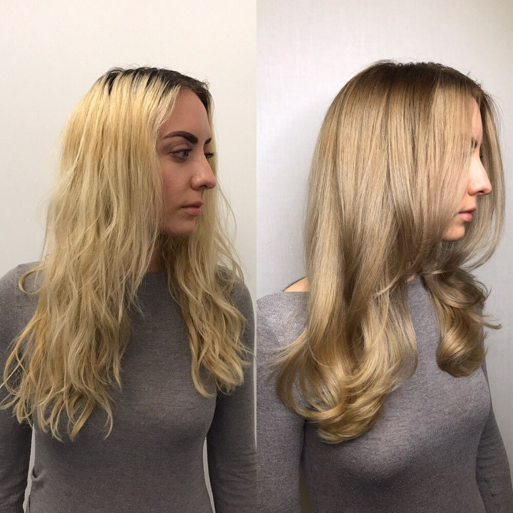Before And After Sandy Soft Blonde And Long Layered