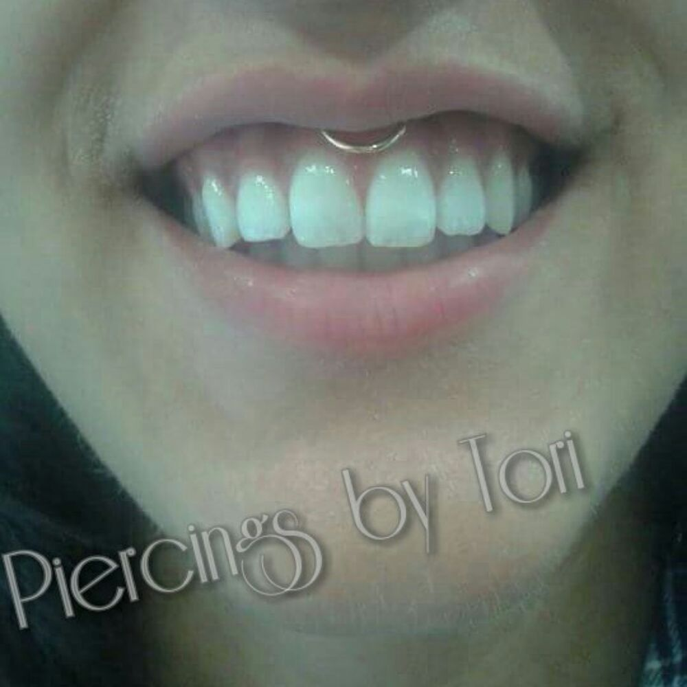 Smiley Piercing With A Gold Hoop Yelp