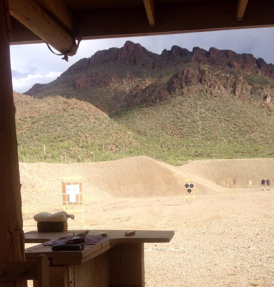 Shooting Range In Pine Colorado: Great Place To Shoot. Can't Beat That Backstop.