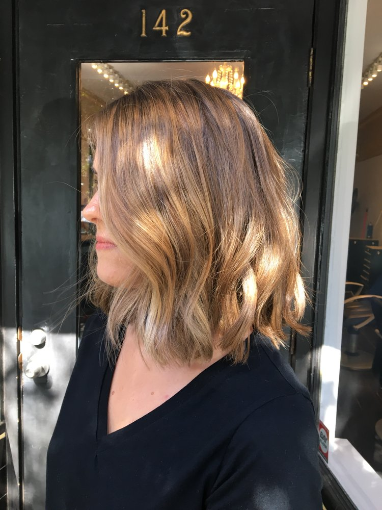 Subtle Balayage Long Bob And Beachy Waves From Katie Perfection
