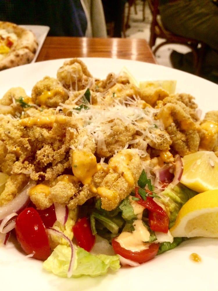 Calamari Salad Flash Fried Calamari Red Pepper Aioli