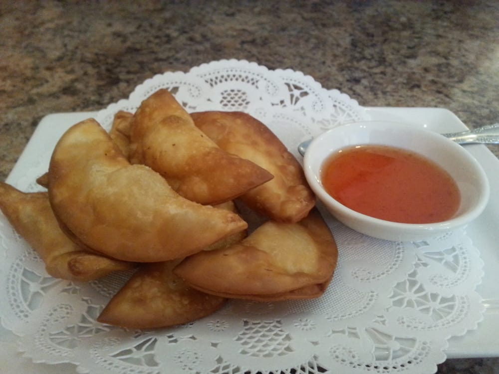 Crab wontons yelp for Arawan thai cuisine menu