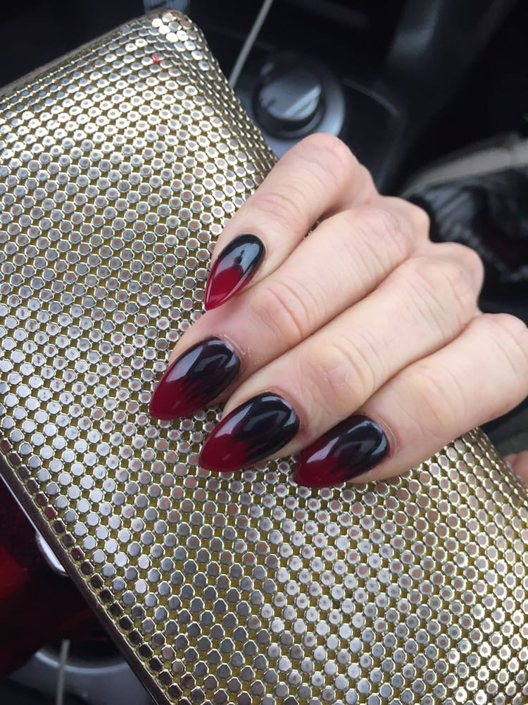 Killer Ombré Vampire Nails On My Girl At Erinohagainhair By The One