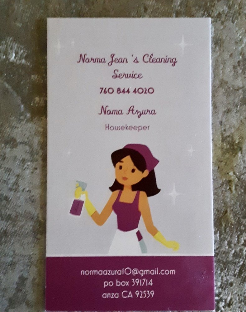 Norma Jean's Cleaning Service: Anza, CA