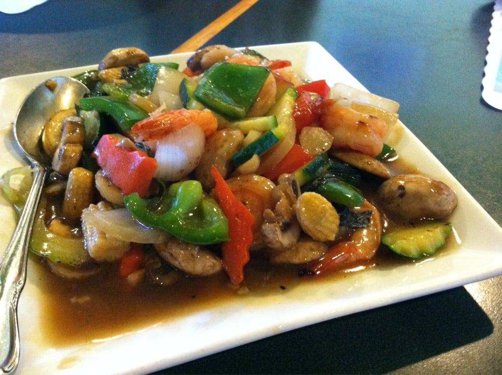 Shrimp Stir Fry With Mixed Vegetables In A Spicy Brown ...  |Shrimp With Mixed Vegetables