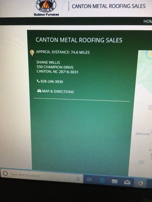 Canton Metal Roofing 550 Champion Dr Canton Nc Hardware Stores