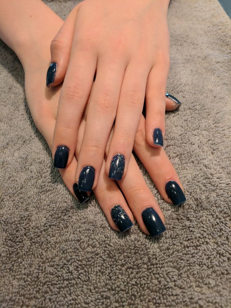 Acrylic nails with opi gelcolor CIA=color is awesome and Tammy ...