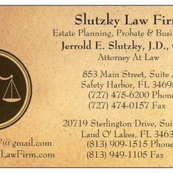 Slutzky law firm business law 20719 sterlington dr land o lakes photo of slutzky law firm land o lakes fl united states business business card reheart Gallery