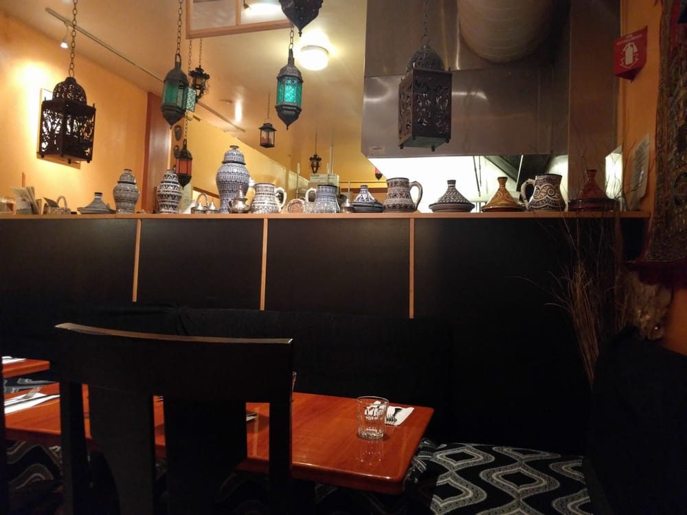 Pretty line up of ceramic vases yelp for Aicha moroccan cuisine san francisco