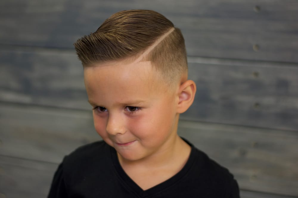 A Kids Combover With Hard Part He S Ready To Get All The Ladies