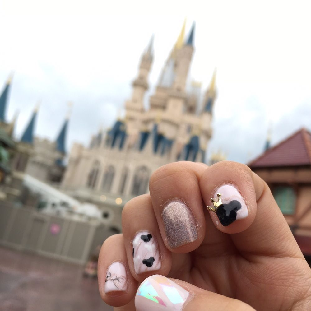 Ashley did an amazing job on my requested Disney inspired nails ...