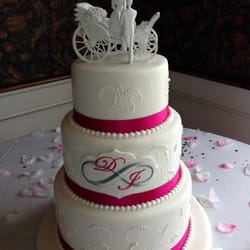 Photo Of Mainely Wedding Cakes   Lisbon Falls, ME, United States. Stenciled  Cake