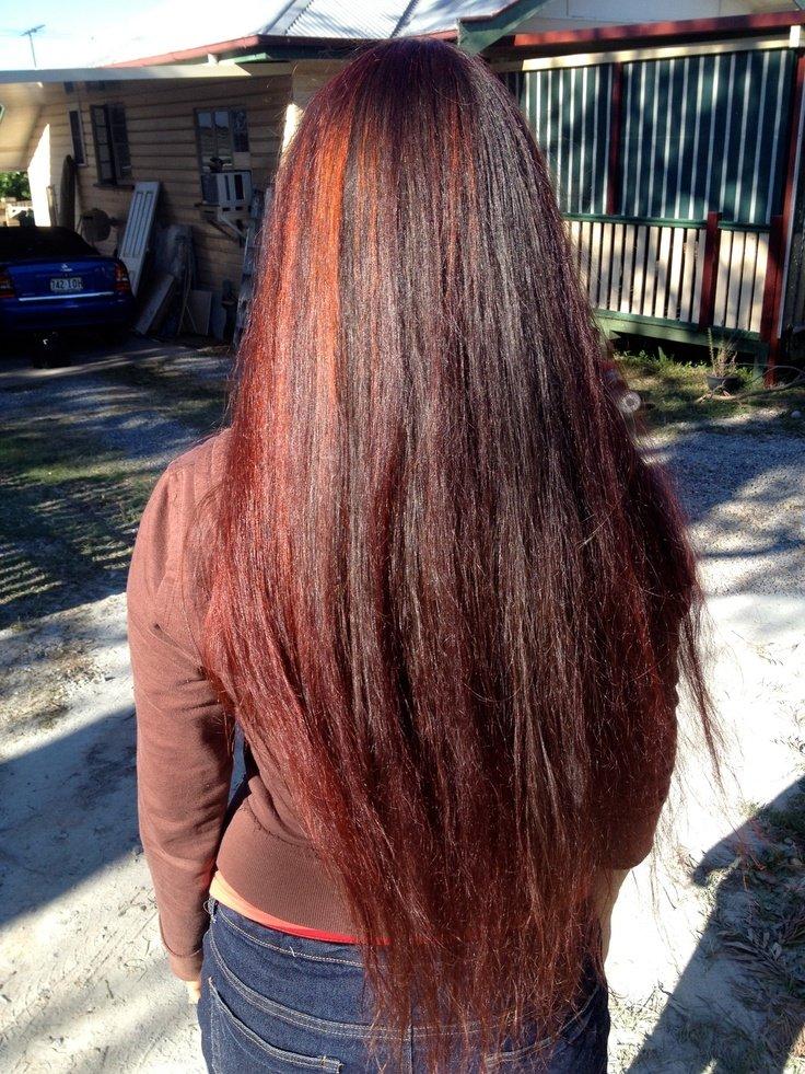 Henna Hair Dye Red On Black Hair Miracle Beauty Salon Atlanta Yelp