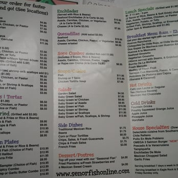Senor fish closed 169 photos 476 reviews mexican for Senor fish menu