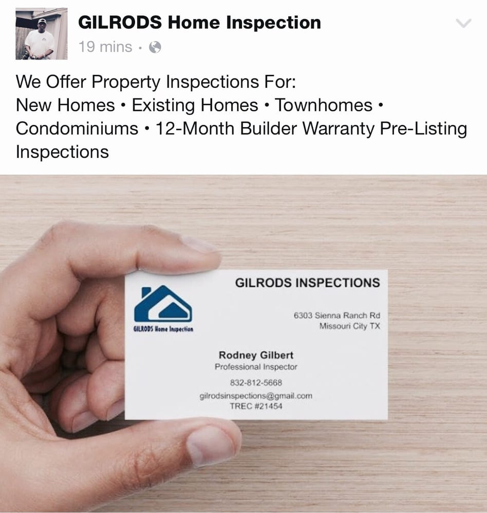 Gilrods Home Inspection - Home Inspectors - 6303 Sienna Ranch Rd ...