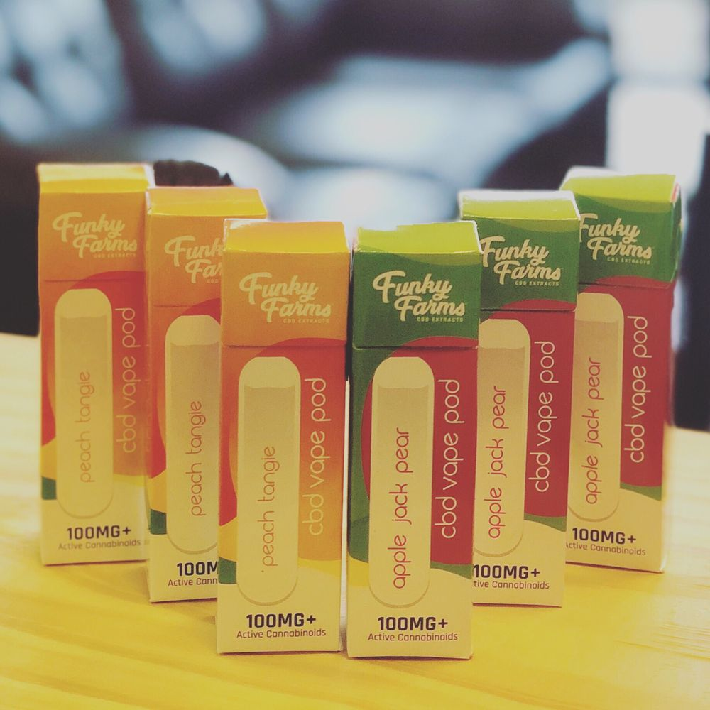 Disposable CBD Vape Pods are now available  Made by Funky