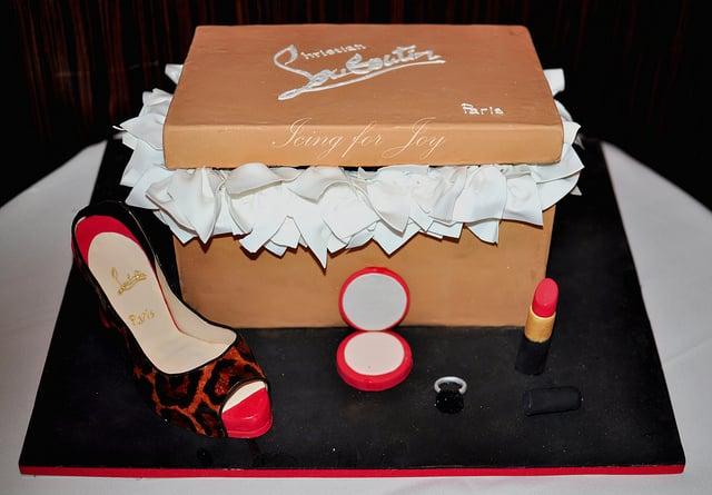 4317d585185 Custom Christian Louboutin shoe and shoe box cake - Yelp