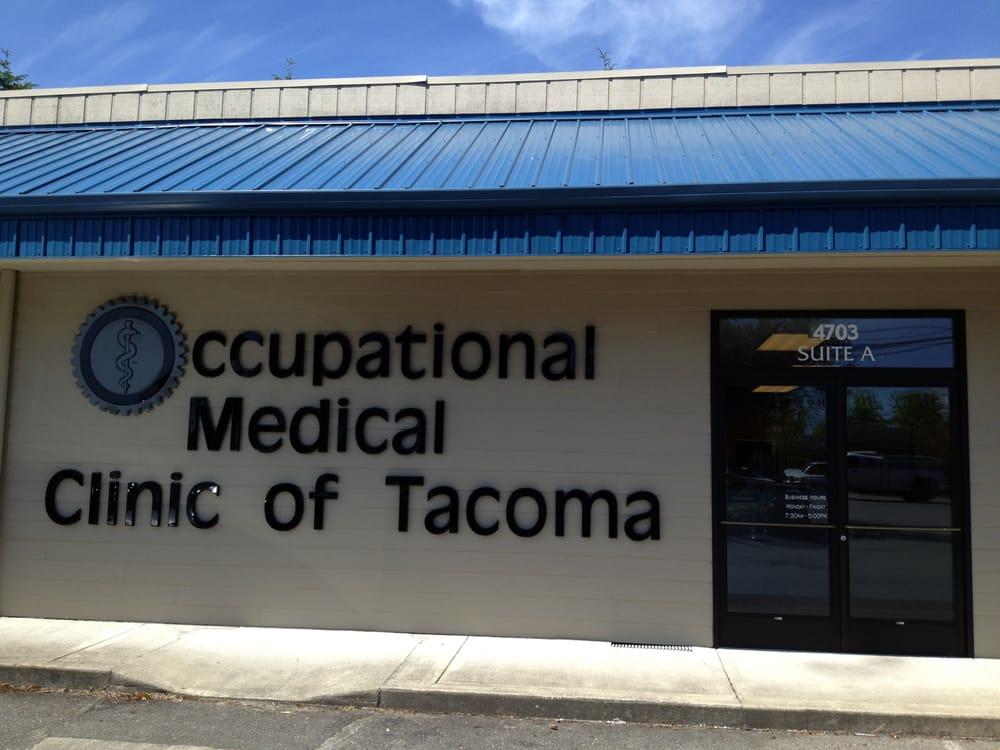 Occupational Medical Clinic of Tacoma | 4703 Pacific Highway E, Tacoma, WA, 98424 | +1 (253) 922-9570