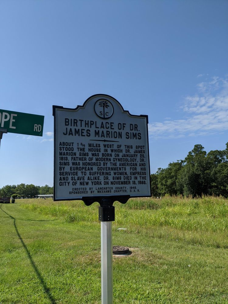 Birthplace of James Marion Sims Historic Marker: 100 State Rd S-29-34, Heath Springs, SC