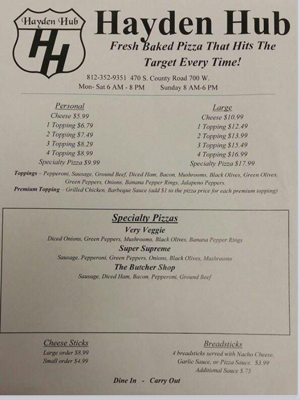 Hayden Hub: 470 S County Rd 700 W, North Vernon, IN