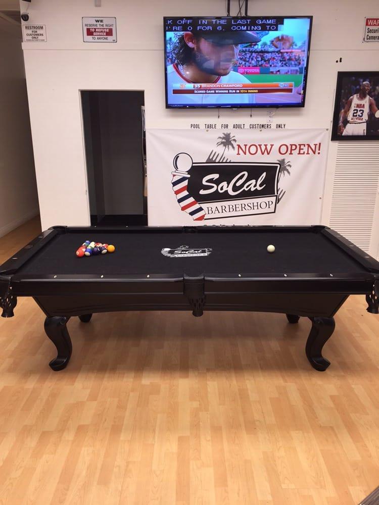 Photo Of SoCal Barbershop   Oxnard, CA, United States. SoCal Barbershop Pool  Table