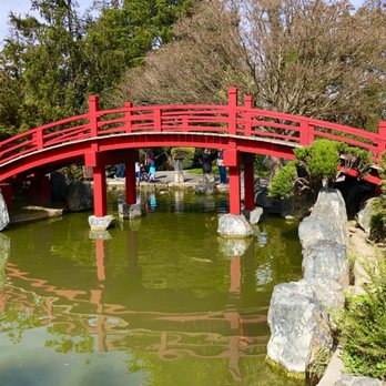 Photo Of Japanese Friendship Garden   San Jose, CA, United States.  Traditional Red