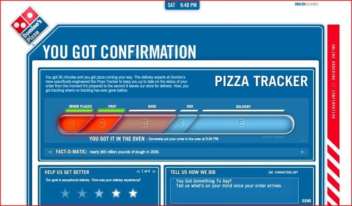 Domino S Pizza Tracker Not My Order Yelp
