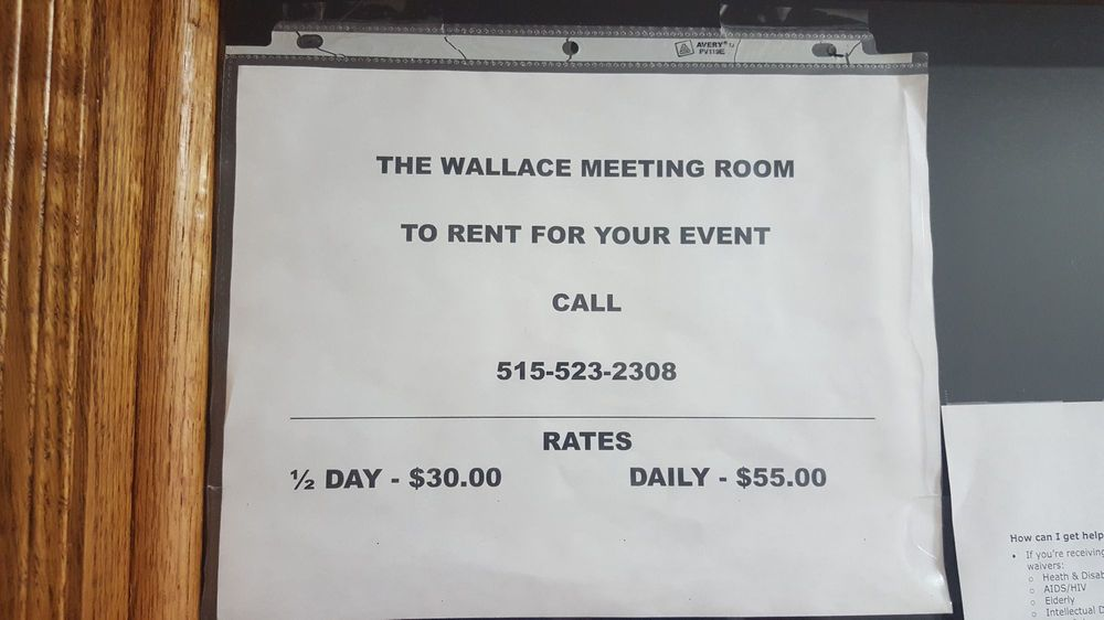 Wallace Meeting Room: 723 S Division St, Stuart, IA