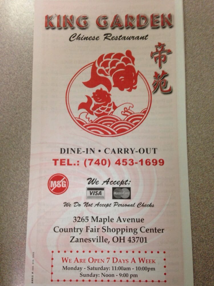 king garden chinese restaurant chinese 3265 maple ave zanesville oh restaurant reviews