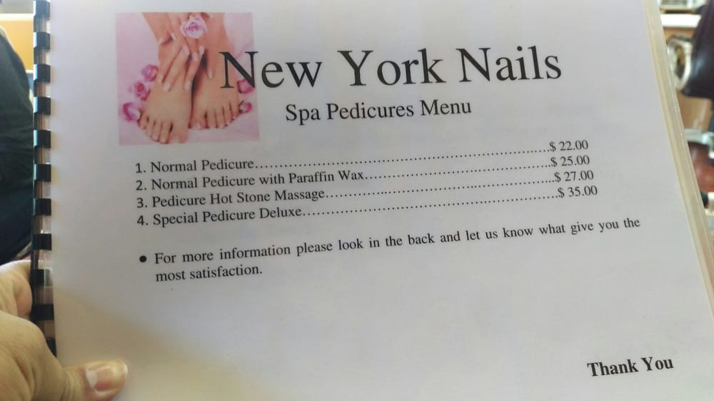 Pedicure options - Yelp
