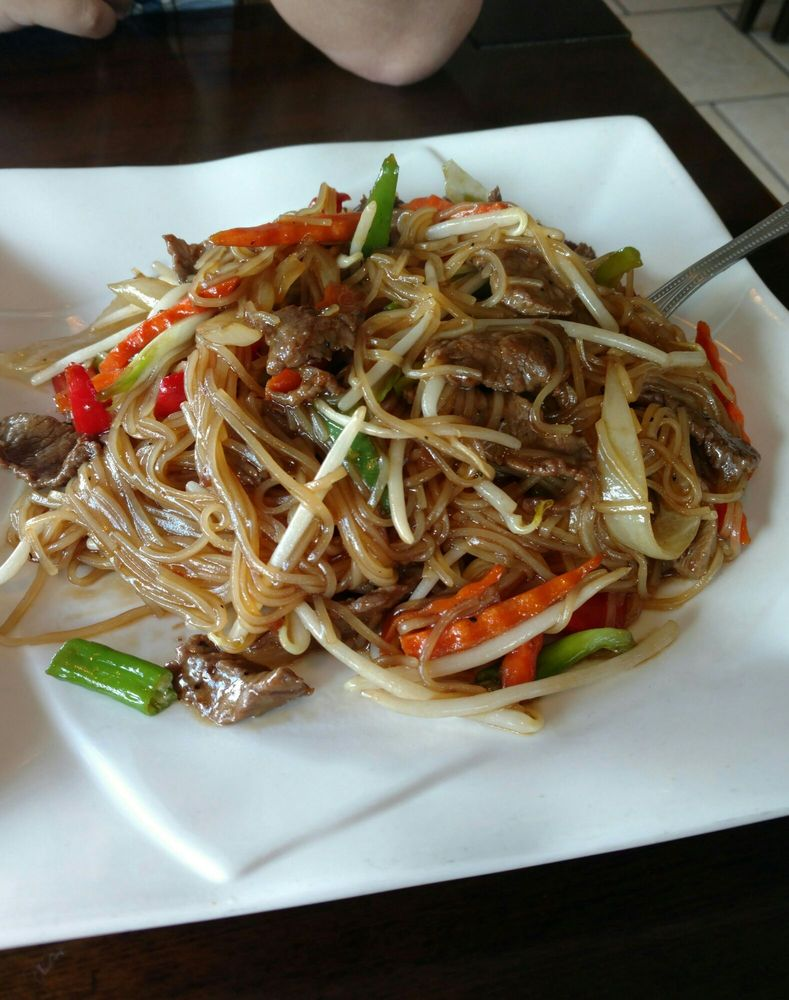Pad mi lao with beef - Yelp