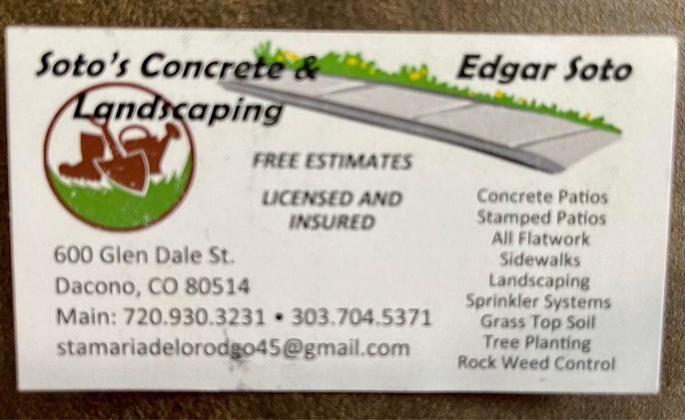 Soto's Concrete & Landscaping: 600 Glen Dale st, Dacono, CO