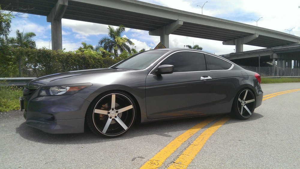 Honda Accord lowered on BcRacing coilovers 20x10 20x10.5 vossen ...
