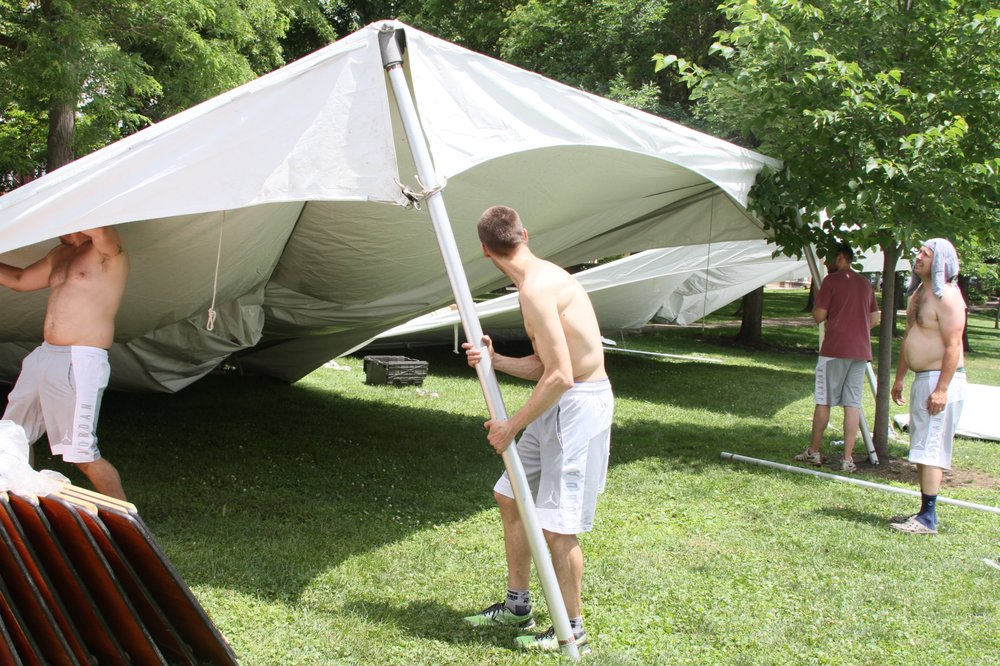 Photo of Top Notch Rental Services - Naperville IL United States. Had to & Had to try to figure out how to assemble the tents ourselves after ...