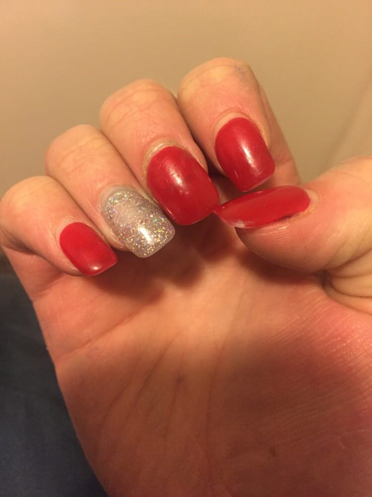 The middle finger nail was my fix and it Broke off already after a ...