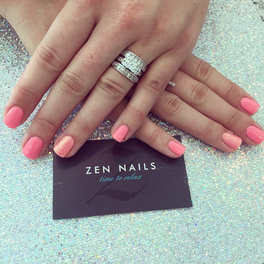 Fairy Dust Accent Nails with gel shellac. - Yelp