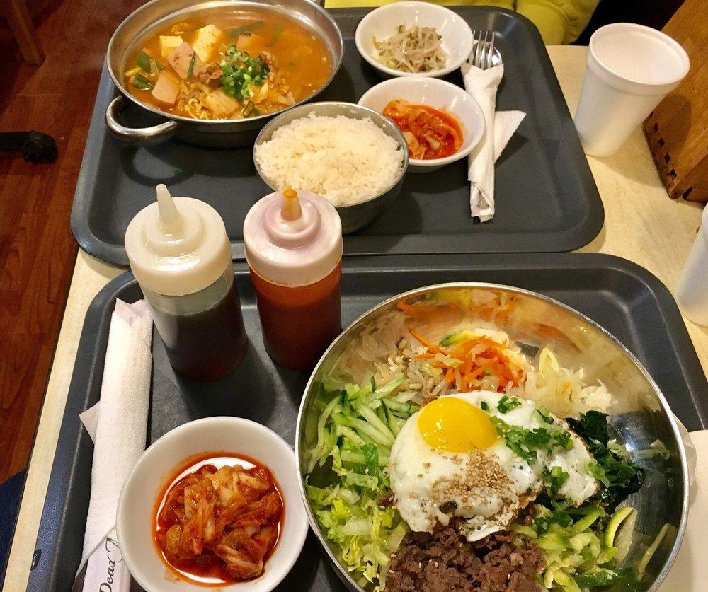 Food from Kang's Korean Restaurant