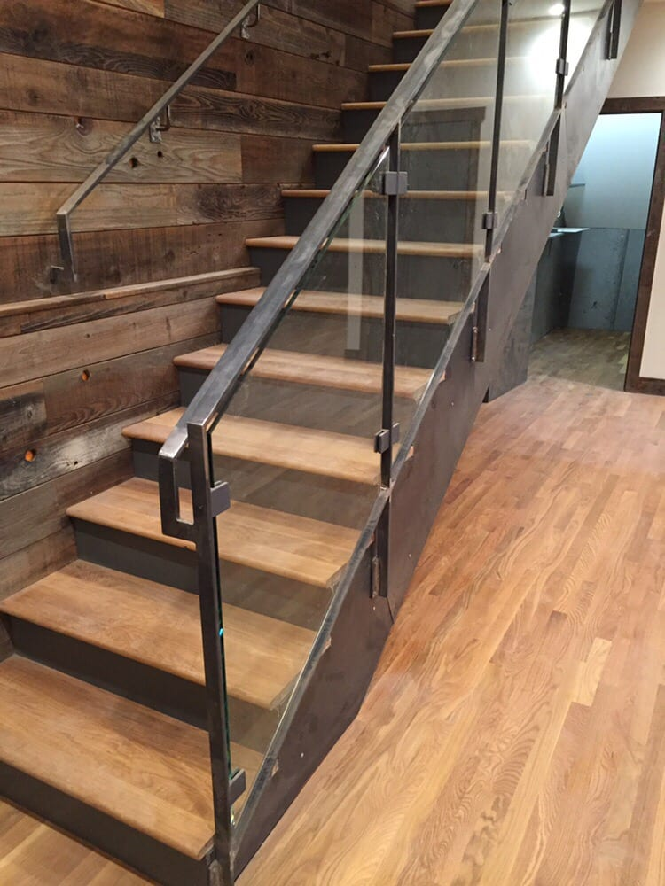New stairs and floors pairs gorgeously with the reclaimed for Reclaimed wood flooring san francisco