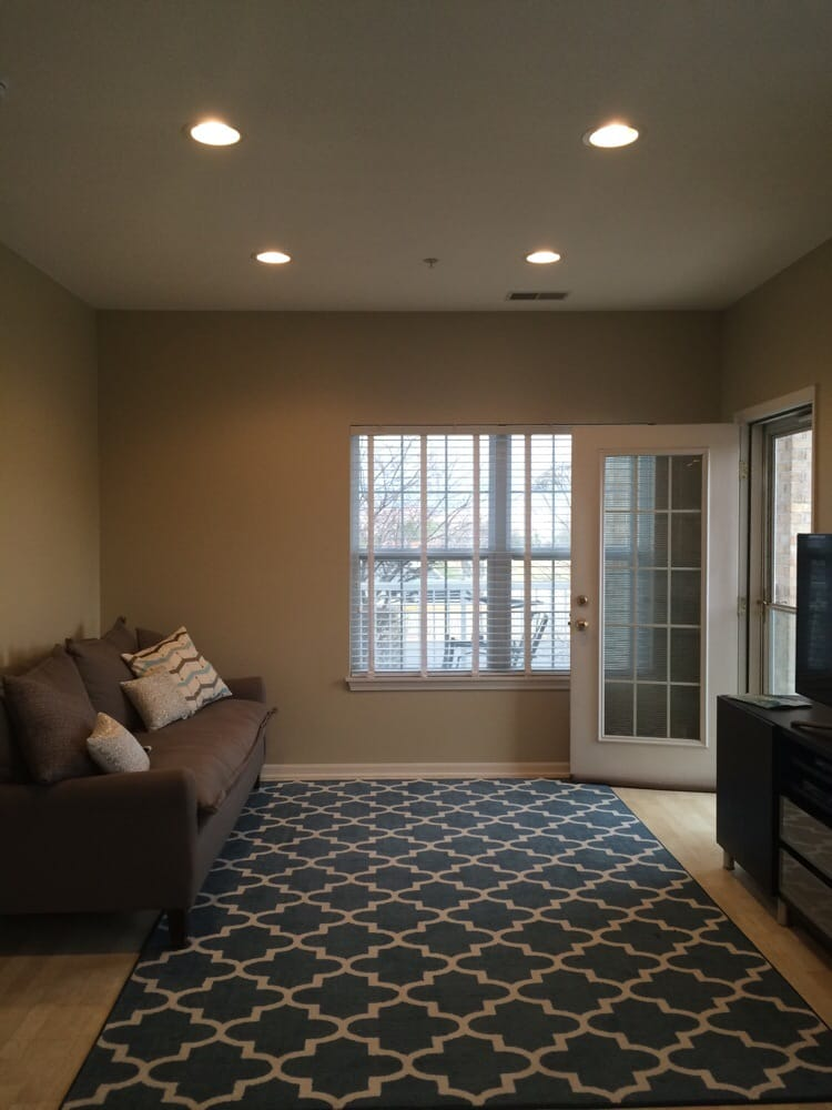 Canned lighting in a room that previously had no ceiling lights photo of gdm electric arlington heights il united states canned lighting in mozeypictures Image collections
