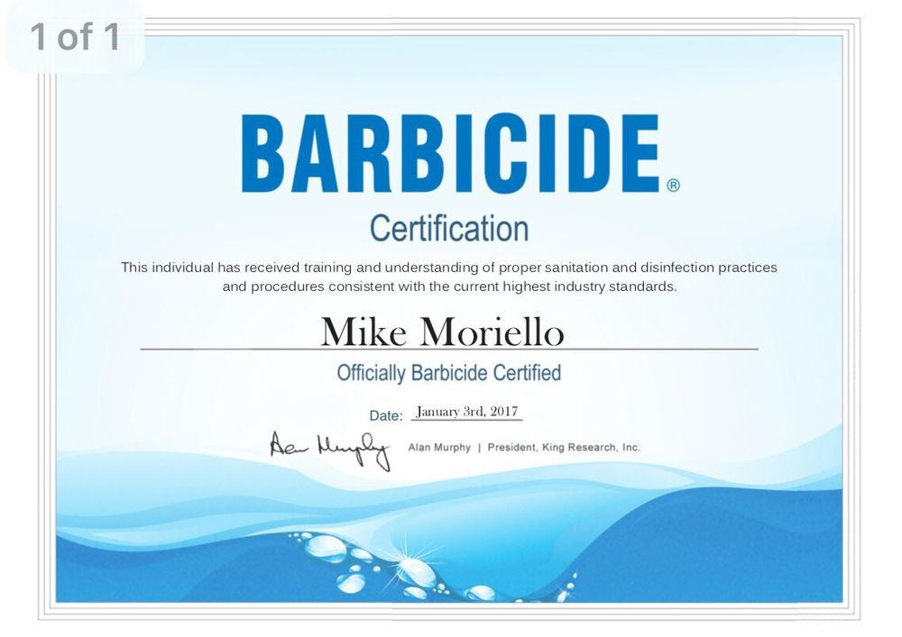 Georges Barber Shop Is Officially Barbicide Certified In Proper