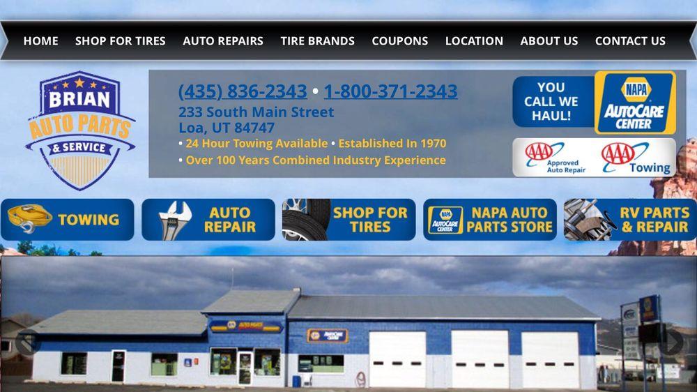 Brian Auto Parts & Service: 233 S Main, Loa, UT