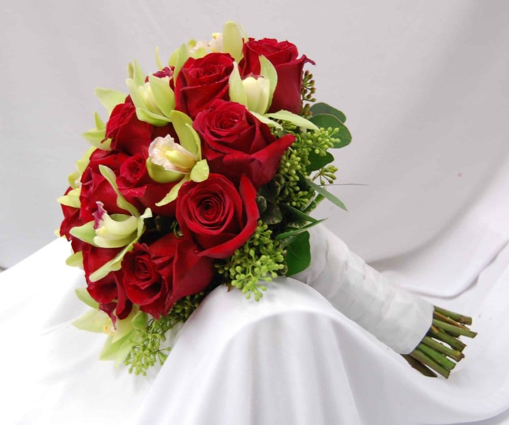 wedding flowers san jose and green mini cymbidium bridal bouquet yelp 9644