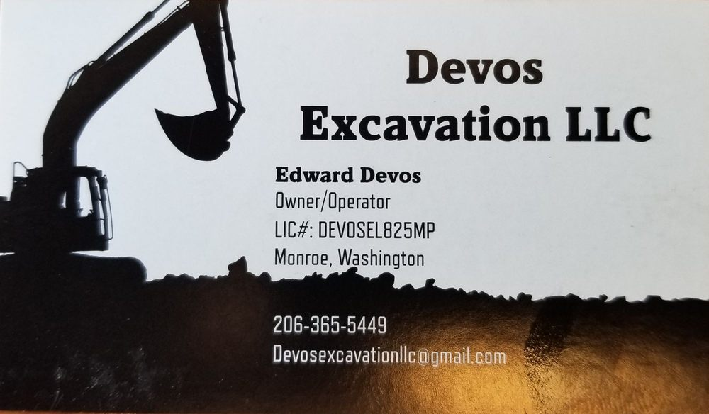 Devos Excavation: Monroe, WA