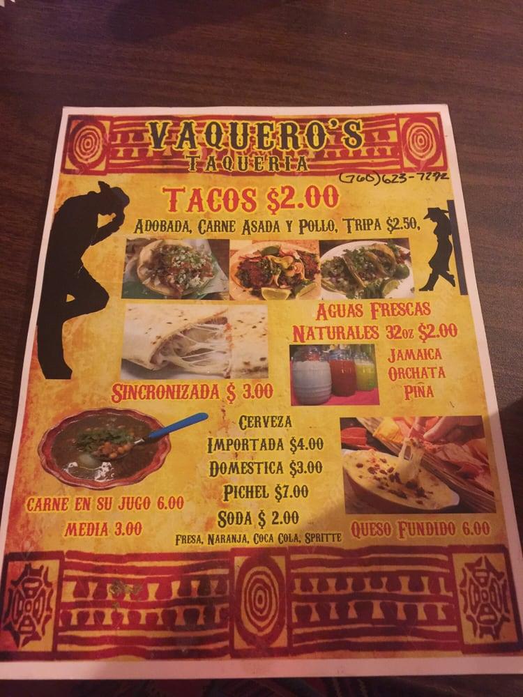 Vaquero's Taqueria: 996 G St, Brawley, CA