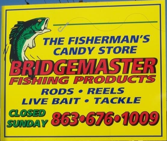 Bridgemaster Fishing Products: 2131 Hwy 60 E, Lake Wales, FL