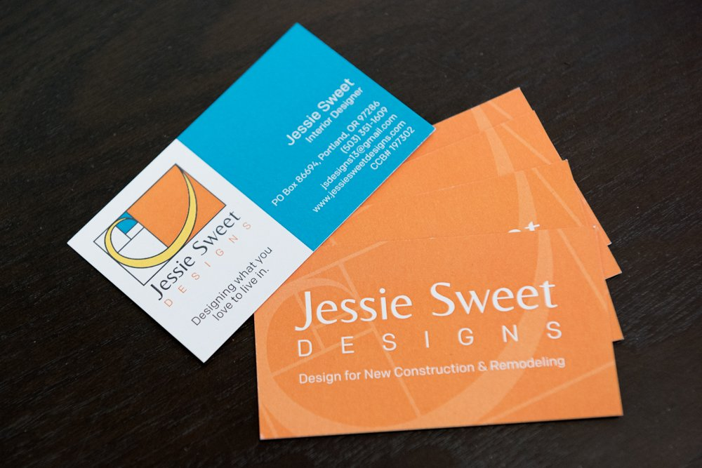 Logo design and business cards for jessie sweet designs yelp photo of upswept creative portland or united states logo design and business colourmoves