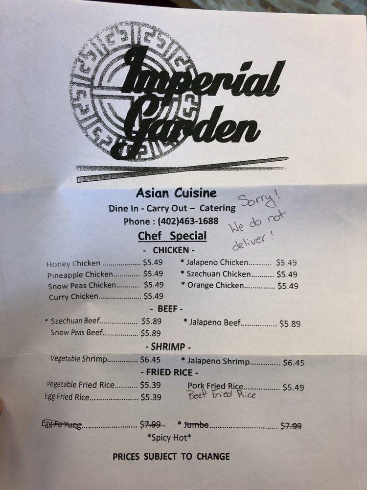 Imperial Garden Express: 314 N Burlington Ave, Hastings, NE