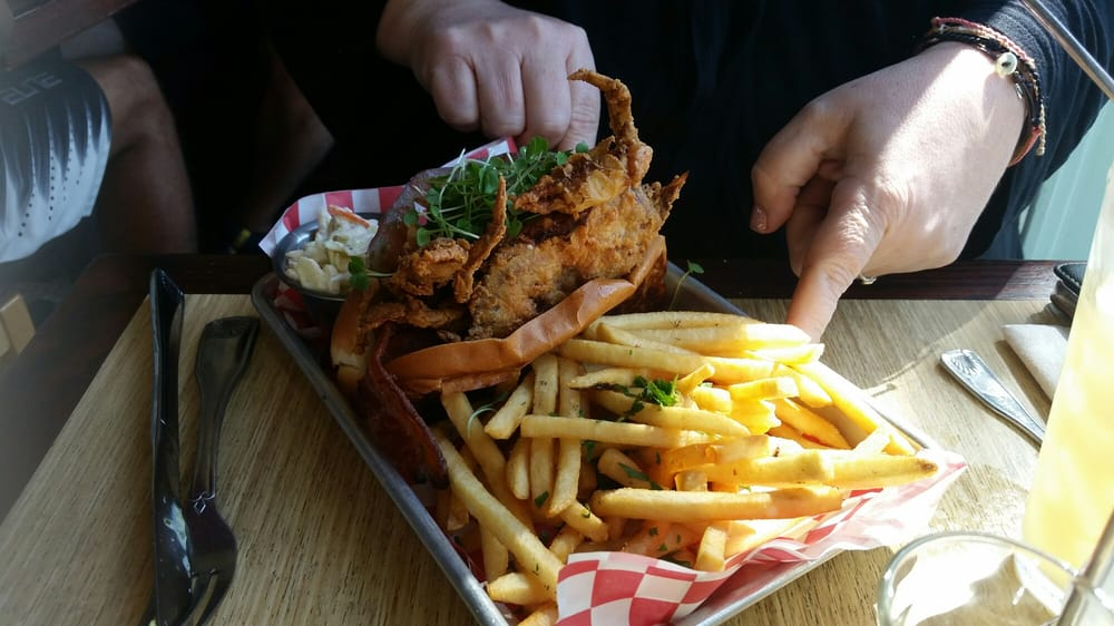 Woodhouse fish co 39 s soft shell crab blt special crunchy for Woodhouse fish co