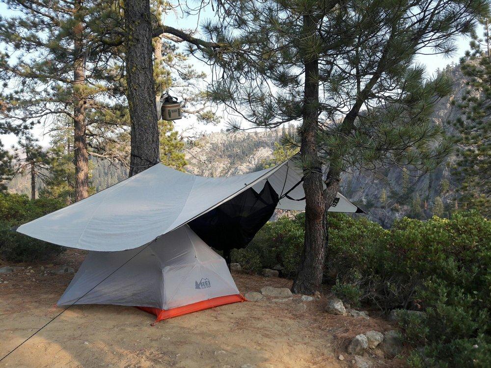 Photo of REI - Berkeley CA United States. Motorcycle c&ing with REI tent & Motorcycle camping with REI tent tarp and hammoch at Kangaroo ...