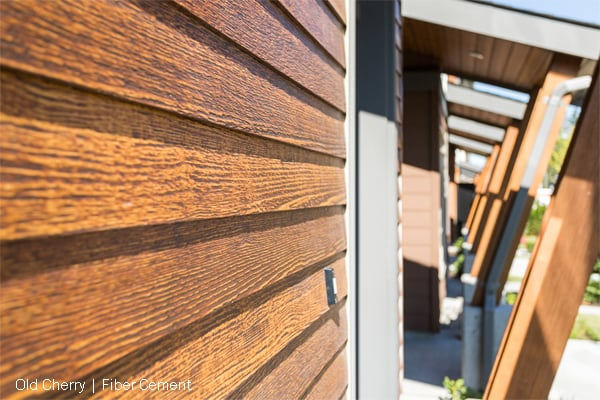 Woodtone Rusticseries Old Cherry As Lap Siding On The